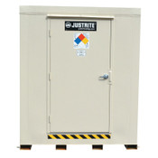 Justrite 4-Hour Fire-Rated Outdoor Safety Locker, Standard, (2) 55-gallon drums, 1/EA, #913020
