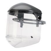 Honeywell Dual Crown Faceshield Systems, 4 in Crown, Speedy Loop, Clear, 1/EA, #FM5400DCCLC