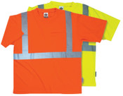 Ergodyne 8289  ECONOMY T-SHIRT  ORANGE  LARGE, 6/CA, #21514