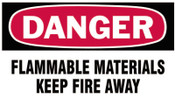 Brady Gas Cylinder Lockout Labels, Danger Flammable Material, 5 in W x 3 in L, WH/RD, 10/PKG, #60312