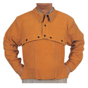 Best Welds Leather Cape Sleeves, Snaps Closure, Large, Golden Brown, 1/EA, #Q2L
