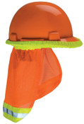 MSA SunShade Hard Hat Accessories, Orange with Reflective Stripe, For MSA Caps&Hats, 1/EA, #10098031