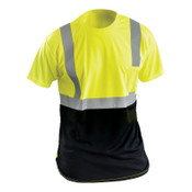 OccuNomix XL T-SHIRT BLACK AND YELLOW, 1/EA, #LUXSSETPBKYXL