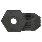 TrafFix Devices, Inc. Delineator Tube Base Only, Hex, 12 lb, Rubber, Black, 1/EA, #42000TB12