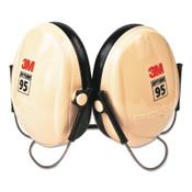 3M Optime 95 Earmuffs, 21 dB NRR, White/Black, Behind the Head, 1/EA, #7000009666