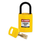 Brady SafeKey Compact Nylon Lockout Padlocks, 1/EA, #CPTYLW25PLKD