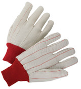 Anchor Products 1000 Series Canvas Gloves, Mens, Off-White, White Knit-Wrist Cuff, 12 Pair, #790NI