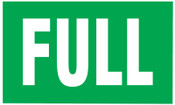 Brady Gas Cylinder Lockout Labels,  Full Gas, 5 in W x 3 in L, Green/White, 10/PKG, #60308