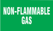 Brady Gas Cylinder Lockout Labels, Non Flammable Gas, 5 in W x 3 in L, Green/White, 10/PKG, #60315