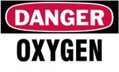 Brady Gas Cylinder Lockout Labels, Danger Oxygen Gas, 5 in W x 3 in H, White/Red, 10/PKG, #60313
