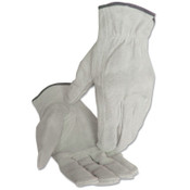 Anchor Products 4400 Series Split Cowhide Leather Driver Gloves, Medium, Unlined, Pearl Gray, 12/DZ, #980M