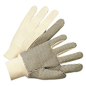 Anchor Products 1000 Series Dotted Canvas Gloves, Cotton Canvas, Men's, White, 12/DZ, #780K