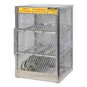 Justrite Aluminum Cylinder Lockers, (6) 20 or 33 lb. Cylinders, 1/EA, #23002