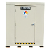 Justrite 4-Hour Fire-Rated Outdoor Safety Locker, Standard, (6) 55-gallon drums, 1/EA, #913060