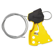Brady Cable Lockout Devices, Yellow, 1/EA, #45192
