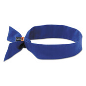 Ergodyne Chill-Its 6700FR Evaporative Flame Resistent Cooling Bandanas, Solid Blue, 6/CA, #12607