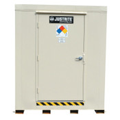 Justrite 2-Hour Fire-Rated Outdoor Safety Locker, Explosion Relief, (9) 55-gallon drums, 1/EA, #912091