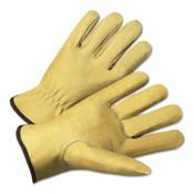 Anchor Products 4800 Series Premium Grain Pigskin Driver Gloves, Medium, Unlined, Beige, 12 Pair, #9940KM