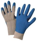 Anchor Products Latex Coated Gloves, Large, Blue/Gray, 12 Pair, #6030L
