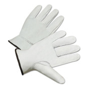 Anchor Products 4200 Series Premium Grain Goatskin Driver Gloves, Large, Unlined, White, 12/DZ, #4200L