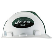 MSA Officially-Licensed NFL V-Gard Helmets, 1-Touch, New York Jets Logo, 1/EA, #818404