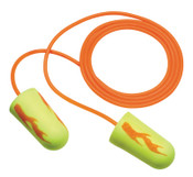3M E-A-Rsoft Yellow Neon Blasts Foam Earplugs 311-1252, Polyurethane, Yellow, Corded, 200/BX, #7000052721