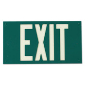 Brady Glo Exit Signs, Green, 1/EA, #90887B