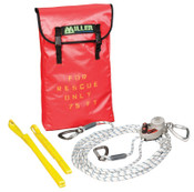 Honeywell SafEscape ELITE Rescue/Descent Devices, 300 ft; Anchor Slings; Edge Protector, 1/EA, #SEWPKTC300FT