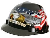 MSA Freedom Series Helmets, Fas-Trac Ratchet, Cap, American Eagle, 1/EA, #10079479