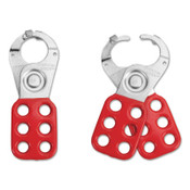 American Lock Lockout Hasps, 1 in Jaw dia., Red, 1/EA, #ALO80