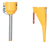 Justrite Funnel Attachments for Type I Steel Safety Cans, Funnel/Hose, Bolt-On, 1/EA, #11089