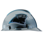 MSA Officially-Licensed NFL V-Gard Helmets, 1-Touch, Carolina Panthers Logo, 1/EA, #818388