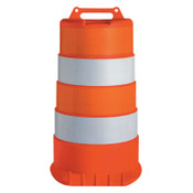 TrafFix Devices, Inc. Channelizer Drum Only, 16 in, HDPE, Engineer Grade Reflective Sheeting, Orange, 1/EA, #18044HDEGNB
