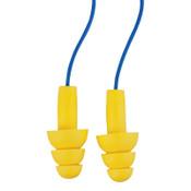 3M E-A-R Ultrafit Earplugs 340-4014, Elastomeric Polymer, Yellow, Corded, 200/BX, #7000052728