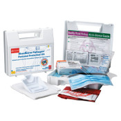 First Aid Only Bloodborne Pathogen Protection Kits, Plastic, Portable, Zipper Case, 1/EA, #216O