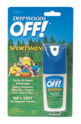Diversey Deep Woods Sportsmen Insect Repellent, 1 oz Spray Bottle, 12/CT, #SJN611090