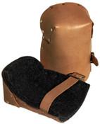 Alta Leather Pro Knee Pads, Strap/Buckle, Russet, 1/PR, #30903