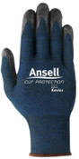 Ansell Cut Protection Gloves, Large, Black/Blue, 1/PR, #104829
