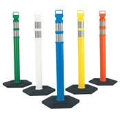 Cortina Easy Grab Delineator Posts, 45 in H, Polyethylene, Orange/Silver, 1/EA, #3734