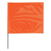 Presco Stake Flags, 2 in x 3 in, 21 in Height, PVC; Steel Wire, Orange Glo, 100/BDL, #2321OG
