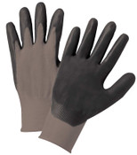 Anchor Products Nitrile Coated Gloves, Large, Black/Gray, 12 Pair, #6020l