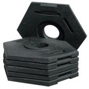 TrafFix Devices, Inc. Delineator Tall Cone Base, 16 lb, Rubber, Black, 1/EA, #42016CRU