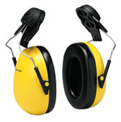 3M Optime 98 Earmuffs, 23 dB NRR, Yellow, Cap Attached, 1/EA, #7000002326