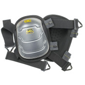 CLC Custom Leather Craft Gel-Tek Swivel Kneepads, Nylon Elastic Strap, Black, 1/PR, #375