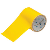 Brady ToughStripe Floor Marking Tape, 4 in x 100 ft, Yellow, 1/RL, #104372