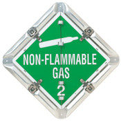 Brady Flip-Style Placards, Blank/Flammable Gas 2/Non-Flammable 2/Oxygen 2, 1/EA, #63200