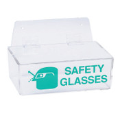 Brady Safety Glasses Holders, 9 in x 6 in x 3 in, Green/Clear, 1/EA, #2011L