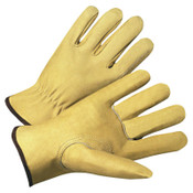 Anchor Products 4800 Series Premium Grain Pigskin Driver Gloves, Large, Unlined, Beige, 12/DOZ, #9940KL