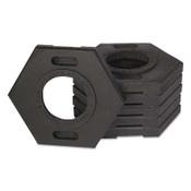TrafFix Devices, Inc. Delineator Tall Cone Base, 10 lb, Rubber, Black, 1/EA, #42010CRU