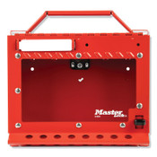 MASTER LOCK Red Steel Group Lockout Box, Max Number of Padlocks: 15, 6-7/8 in x 8-3/8 in, 1/EA, #S3650